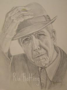 Leonard Cohen Pencil on paper 30x40 cm
